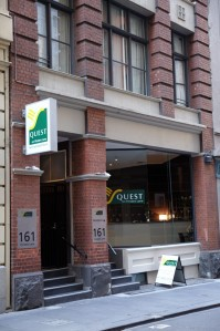 Quest on Flinders Lane Quest Reception